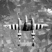 P-38 Lightning aircraft in flight over the English countryside, Jun 1944